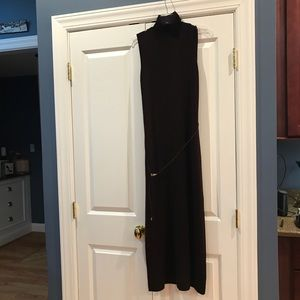 Norton Studio Plum Sleeveless Sweater Dress.